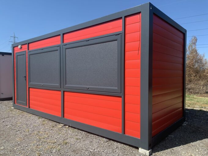 Търговски контейнери Лотус, кафене павилион будка фургон