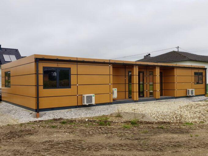 Модулна конструкция, Метални къщи, сглобяеми къщи