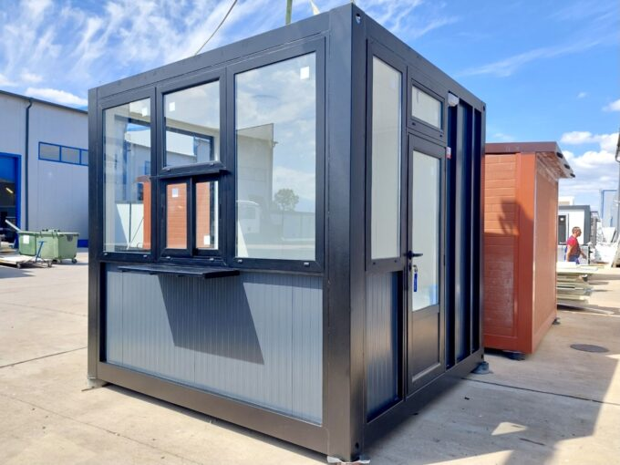 Кабина за охрана със санитарен възел - топ хаус къщи контейнери будки фургони павилиони