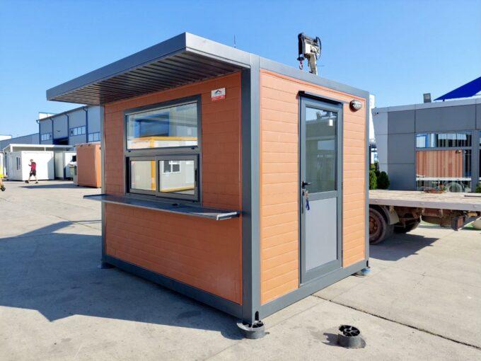 Охранителна кабина, фургон будка павилион топ хаус оод метална конструкция