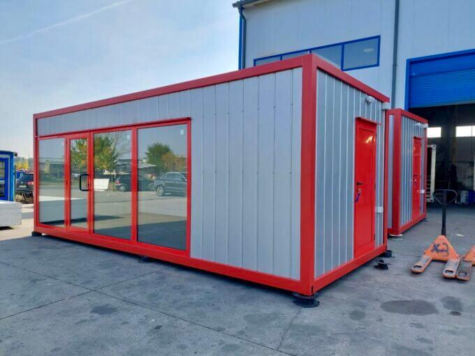 Вид контейнер с две помещения - Търговска площ + Склад